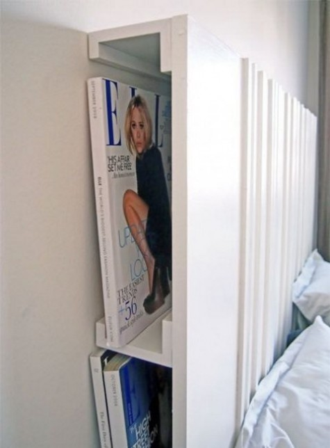 Versteckte Kopfteilablage mit IKEA Ribba Leisten