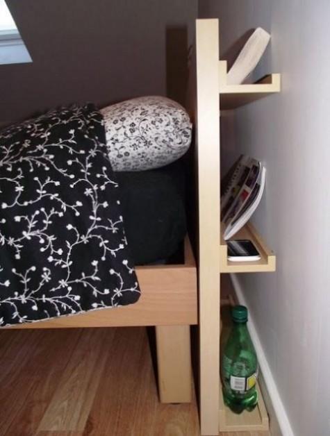IKEA Ribba-Leisten zur Aufbewahrung am Kopfteil