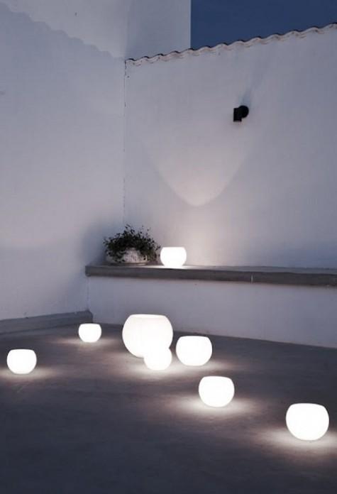 schalenförmige Leuchten in verschiedenen Größen