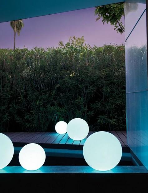 LED-Lampen mit Kugelschutz zur Beleuchtung Ihres Hinterhofs