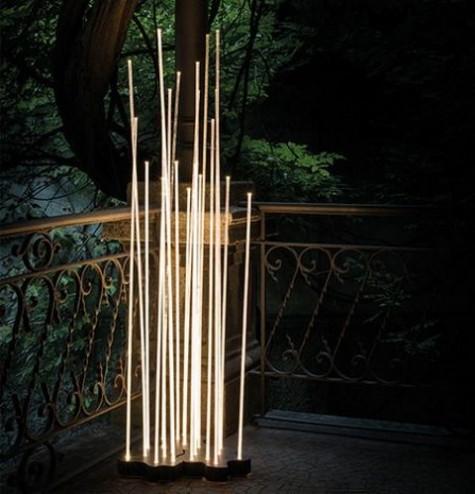 Stehleuchte mit diffuser Abstrahlung von Hochleistungs-LEDs