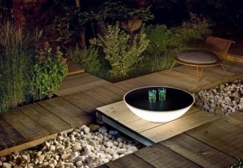 Terra Solar Lampen und Tische sind super funktional