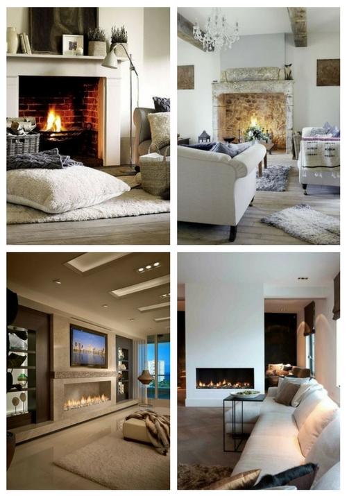 33 gemütlichste Wohnzimmer mit Kamin