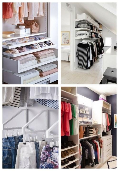 48 Möglichkeiten, Ihren Kleiderschrank intelligent zu organisieren